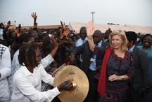 VISITE A ABENGOUROU / La Première Dame fait une entrée triomphale dans la capitale de l'Indenié-Duablin