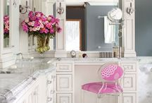Girly bathroom - love!!