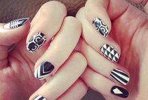 Girl love nails.