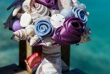 Wedding flowers / bouquets, table decor, chair/aisle decor / by Kathy Rodda George