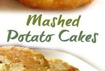 mashed potato caked