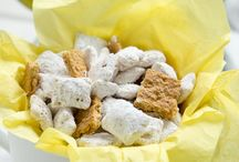 Snacks / Snack recipes containing six ingredients or less; Salt, pepper, sugar (granulated, powdered, and brown), water, butter, and all purpose flour are not counted among these six ingredients.