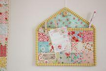 costura creativa / Bossa para decorar la cas y la ropa hechas con tela