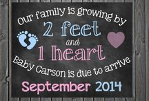 Pregnancy reveal announcement / by Jessica Ambrose