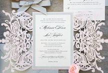 Invitasjon, bordkort og meny