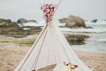 Styled beach wedding