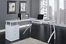 White Corner Desk Computer Storage Unit Wood Table Office Furniture Workstation