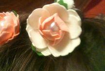 украшения для волос / цветы из фоамирана
