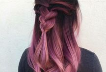 Color hair / balayage, ombre, pink, red, blue, violet, wine... rose gold, creative hairstyle