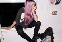 Pink hair outfit