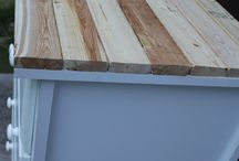 Wood top on dresser