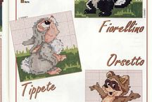 Cross stitch cartoons, punto croce cartoons