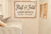 laundry room wood signs