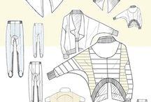 fashion technical drawing