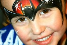 face painting super heroes