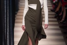 JULY 17 / HEAVY OUTERWEAR OVER SHEER DRESSES, LAYERING, COOL TROUSERS. NOD TO 70'S. CHUNKY ACCESSORIES. TOUGHENED BY PIECES OF LEATHER: LEATHER BERET! CHUNKY DM BOOTS