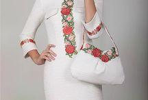 Платья с вышивкой и аплекацией