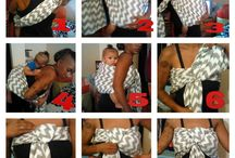 Back carries with a ring sling