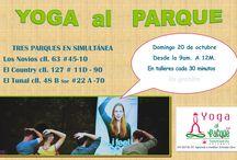 YOGA AL PARQUE LOS DOMINGOS / Los domingos tenemos meditacion en los parques de Bogotá, gratis llamanos al 2495735 637 81 97 Fundación Sahaja Yoga