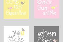 Girl´s room / kid´s room, pink, gray, yellow