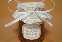 "Bride to Bee Honey Favors / Usually an adventure starts with a simple word, something like ""Let's go"" or ""Shall we?"". This is how our new adventure started. Well not quite in that order.  Click on the photo to read the rest of the story :-)"