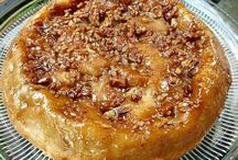 Upside down apple pecan pie