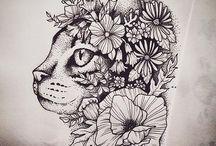 Kitty tattoos