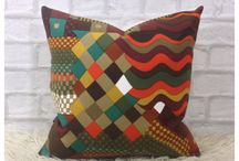 #Vintage fabric cushions / #Vintage fabric cushions handmade by retro68 for sale in our etsy store
