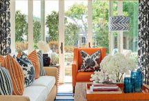 Pops of Orange. / Interior Design. Orange.