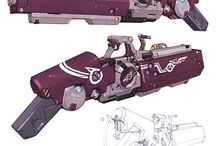 Weapons / Concepts and inspirations - found around Pinterest.