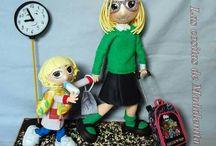 mis muñecas de goma eva