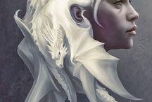 Game of Thrones / Targaryen Stark Daenerys Jon Got Dragon Direwolves Jonerys HBO Jon Snow Drogon Viserion Rhaegal Ghost Summer