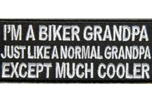 Grandma Grandpa Biker Patches / Made a new collection of patches just for Grandmas and Grandpas. You can sew or iron on these patches to your clothing. Express your sense of humour to others. Patches are a sign of what an awesome cool person you are. / by The Cheap Place