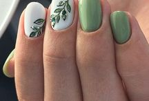 ногти листья
