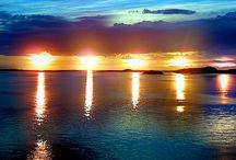 sole di mezzanotte e aurora boreale