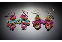Light as a Feather! Amazing handmade aluminum earrings