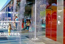 ARCHITECTURE & DISPLAY / Water is fascinating.  Shopping malls, museums, hotels, airports and even corporations are discovering the allure of water. The appeal is the water's ability to add a new dimension to a space; to be able to create wonder and engage visitors.  Urban spaces, Hotels, Shopping centers, Commercial spaces