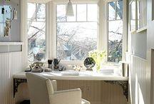 Bay window desk