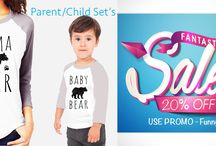 Mother daughter or Dad and son Funny Tshirt sets