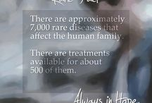 Rare Facts / There are a lot of facts about rare diseases and those who are afflicted with them. Here are a few.