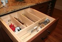Cabinet Accessories / Organization is key in keeping a clutter free kitchen & bath area. Start here!