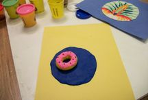 MY ART FOR ELEMENTARY SCHOOL TEACHERS CLAY FOOD PROJECT / USING CLAY