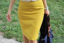 желтая юбка