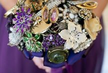vintage brooch bridal bouquet...DIY / When my husband and I renew our vows...So many ideas, concepts and colors... / by Kathryn Lane-Klimaszewski