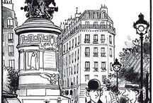 Jacques TARDI / Jacques Tardi  dessinateur & illustrateur né à Valence (France) en 1946. Un des grands de la BD contemporaine.