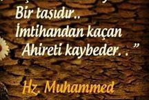 Hadis-i Şerif'ler / Sevgili Peygamberimiz Efendimiz Hz.Muhammed (sav) Buyurdular ki: