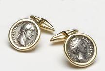 Battistoni Cufflinks Limited Edition / Battistoni cufflinks are preciuos, unique pieces. The effigies are authentic ancient coins used in Ancient Rome.   When elegance meets history.