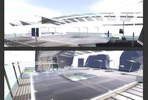 Second Life - Virtual Architecture - LOST VOGUE / SL Building - DCL LOST VOGUE sea club  <-----