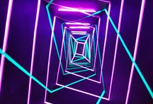 Neon Tunnel / light tunnel - sharing gate