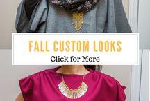 Fall Wardrobes / Fall Custom Wear by A.M.E.G. Designs. Also a fall wardrobe inspiration board.